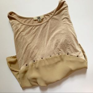 Ya Los Angeles• taupe mix fabric high low top